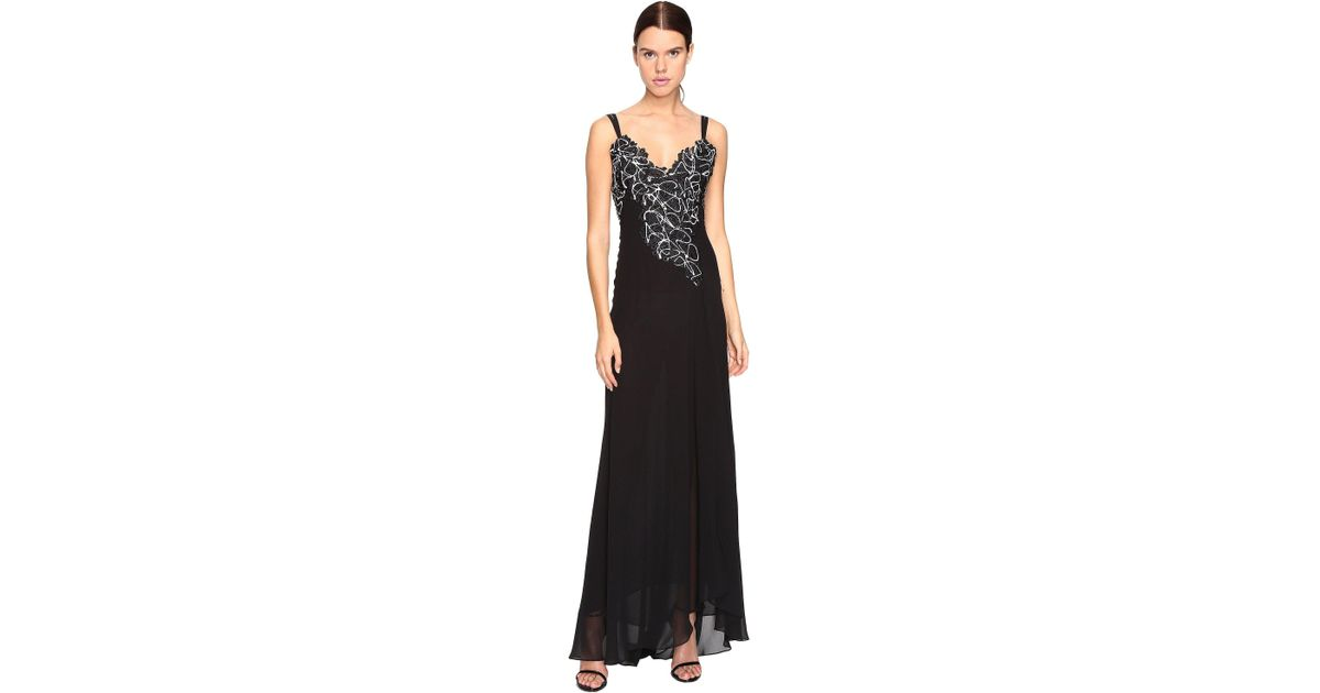 Lyst - Versace Long Evening Gown in Black
