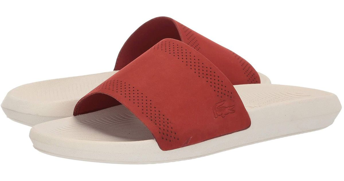 bfce899ff24f Lyst - Lacoste Croco Slide 119 5 (red off-white) Men s Shoes for Men