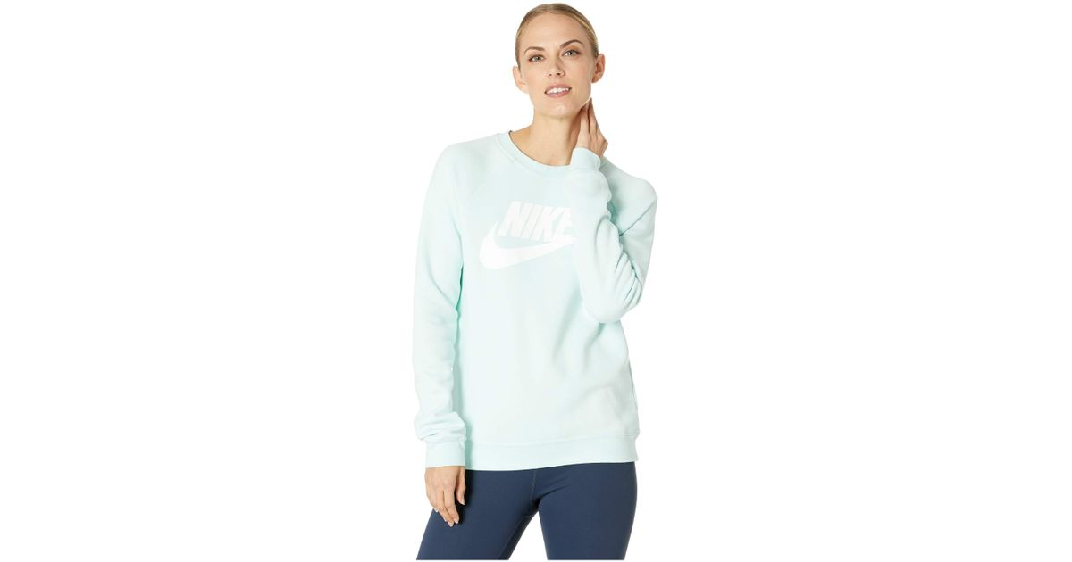 9e4dbcee2799 Lyst - Nike Rally Crew Hbr (igloo white) Women s Long Sleeve Pullover in  White