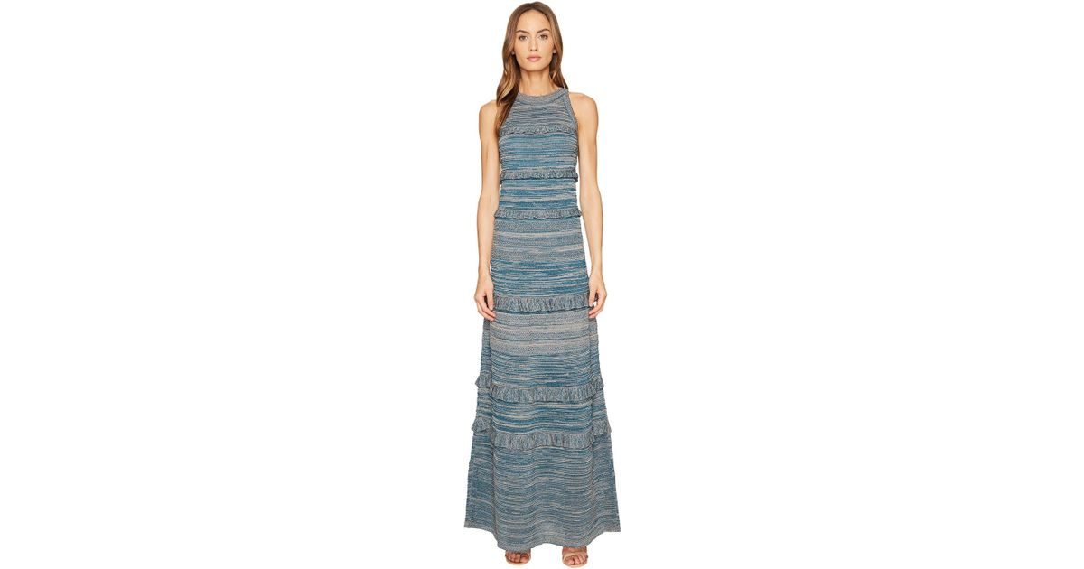 77535a224a8d Lyst - M Missoni Lurex Mouline Maxi Dress in Blue