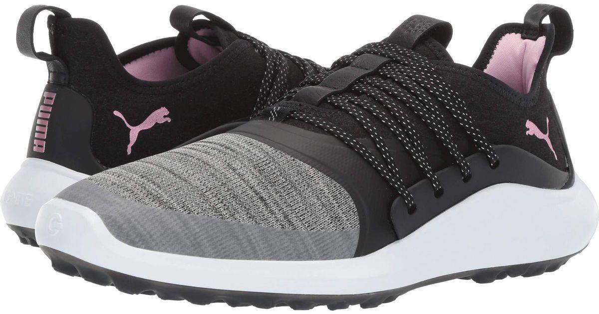 da2bba07e931 Lyst - PUMA Ignite Nxt Solelace (black metallic Pink) Women s Golf Shoes
