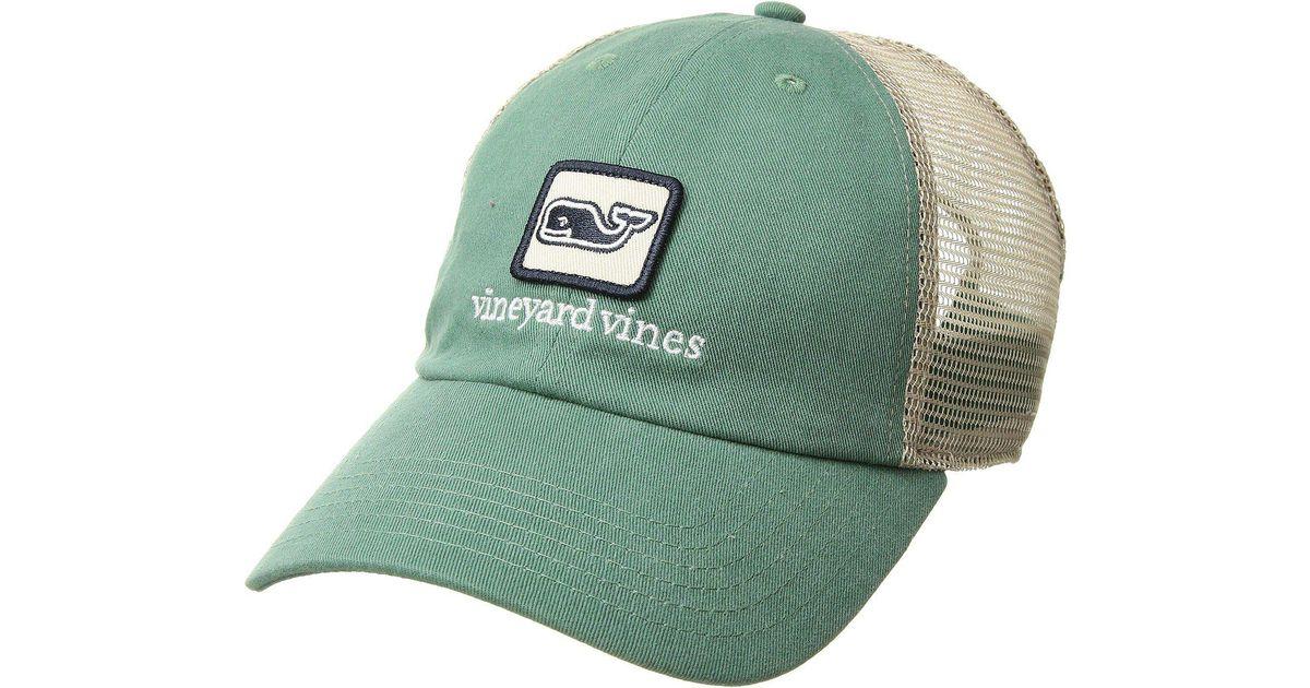 fe5b2671b940a Vineyard Vines Low Pro Decon Whale Trucker Hat in Green for Men - Lyst