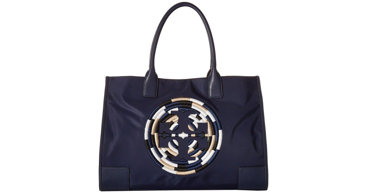 fdc8f592a3d2 Lyst - Tory Burch Ella Rope Tote (french Navy) Tote Handbags in Blue