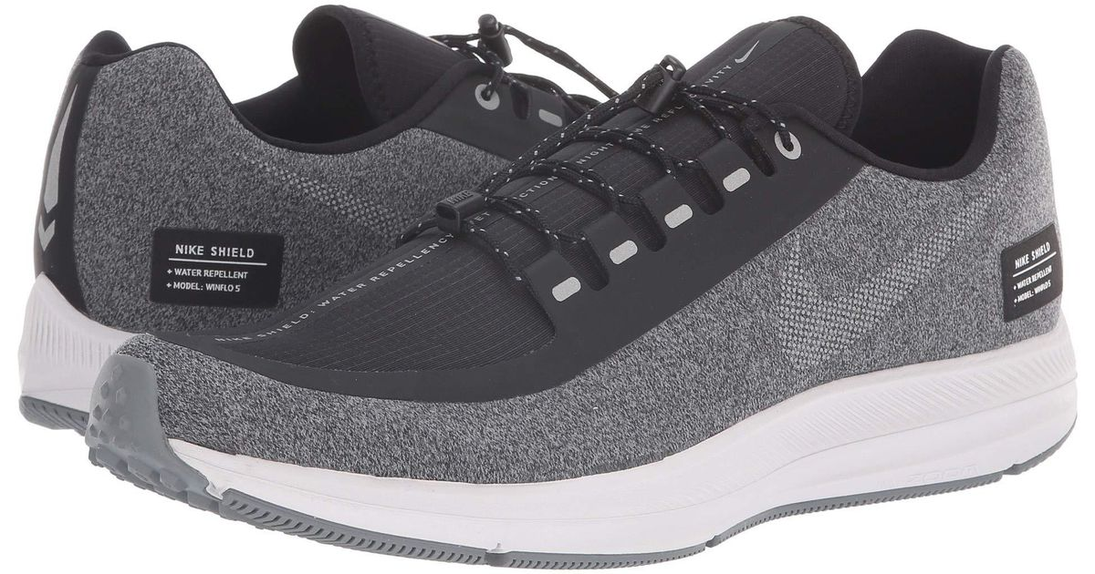 promo code de1bc 9a2ca Nike Air Zoom Winflo 5 Run Shield (black metallic Silver cool Grey) Men s  Running Shoes in Metallic for Men - Lyst