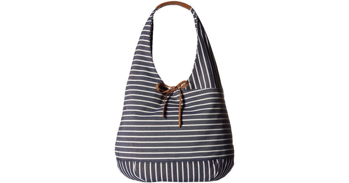 Lyst - Lucky Brand Mia Hobo (black white 1) Hobo Handbags in Blue aaca6528262b2