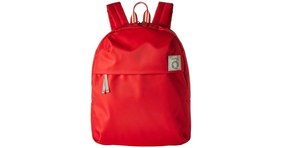 Lyst - Lipault Ines De La Fressange Medium Backpack (red) Backpack Bags in  Red c63f0948f9afb