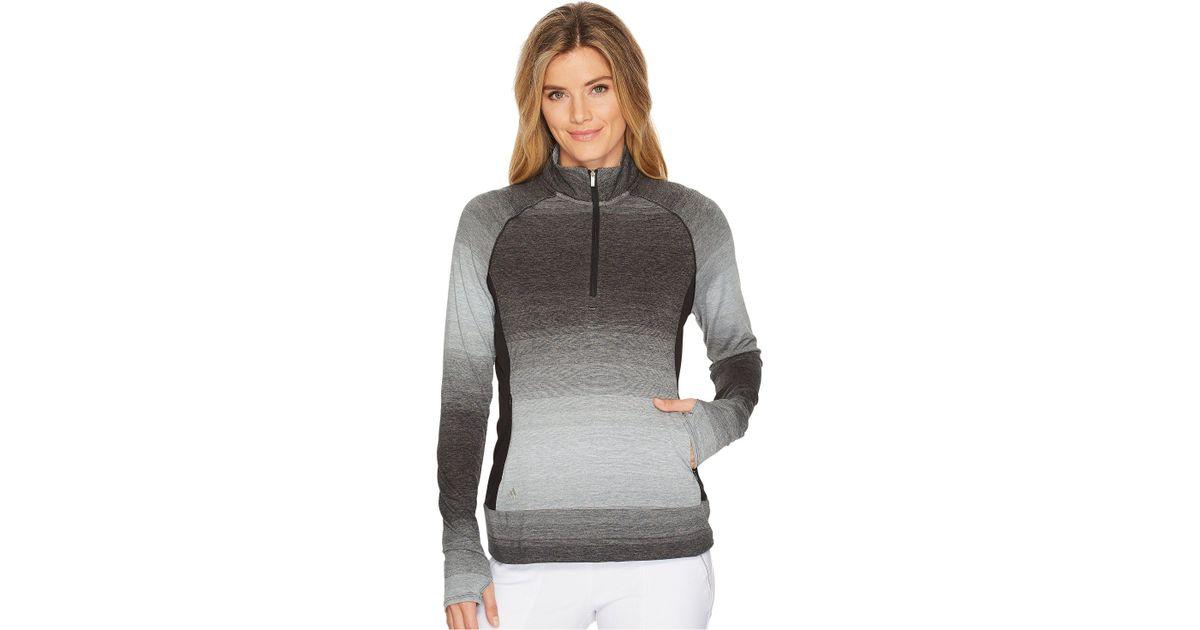 a96a81dd49c Lyst - adidas Originals Rangewear 1/2 Zip (black) Women's Long Sleeve  Pullover in Black