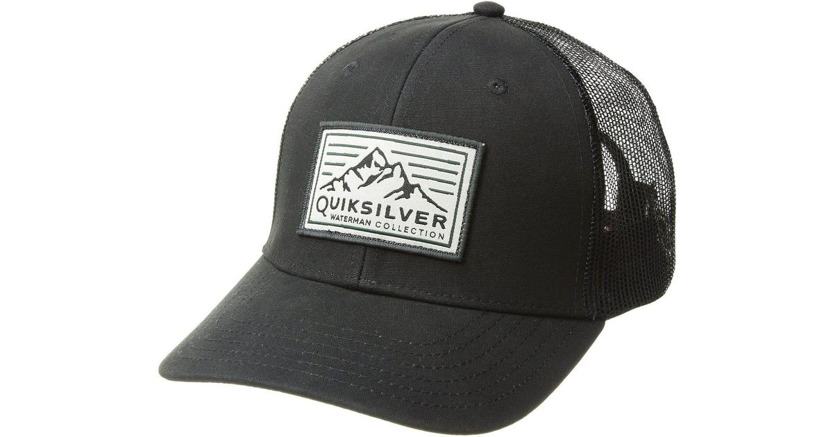 fab8d84a843 Lyst - Quiksilver Bilge Hopper Trucker Hat in Black for Men