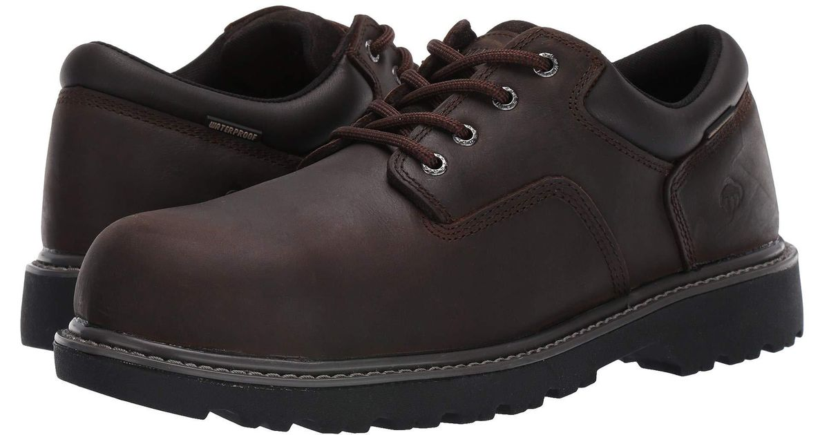 2a068583241 Wolverine - Floorhand Oxford Steel Toe Wp (brown) Men's Shoes for Men - Lyst