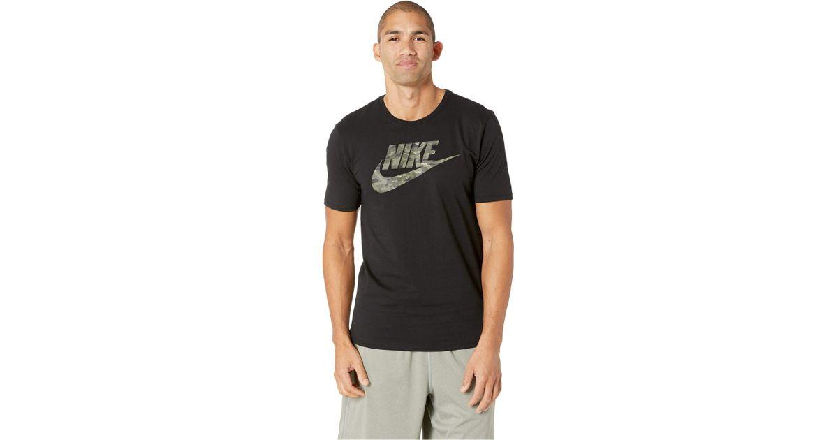 4c7e57de Nike Nsw Tee Camo Pack 2 (black/neutral Olive) Men's T Shirt in Black for  Men - Lyst
