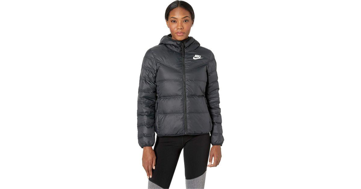7238e0201970 Lyst - Nike Sportswear Windrunner Down Fill Jacket Reversible in Black -  Save 31%