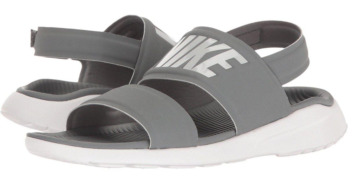 9eb5a85e2051e8 Lyst - Nike Tanjun Sandal (cool Grey white pure Platinum) Women s Shoes in  Gray