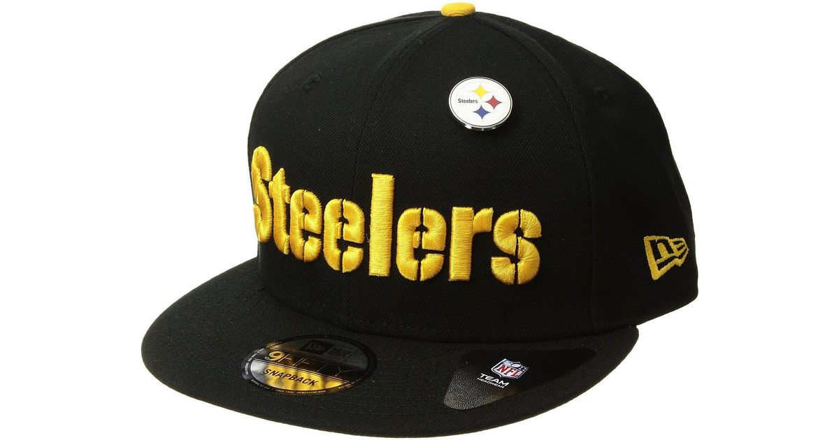 Lyst - KTZ Pittsburgh Steelers Pinned Snap (black) Baseball Caps in Black  for Men a3abfda8d69