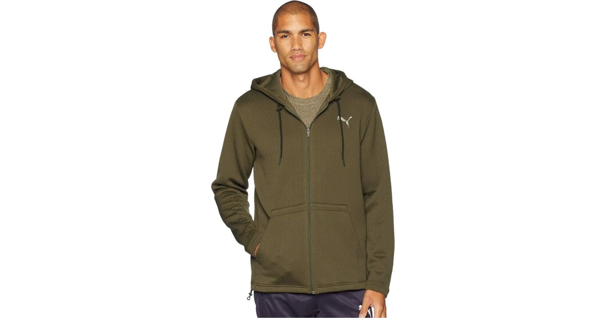 f018329ec920 Lyst - PUMA Vent Hooded Jacket in Green for Men - Save 35%