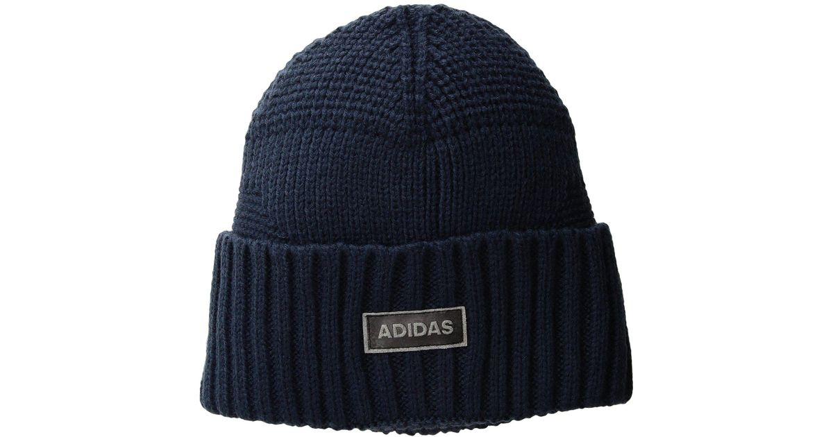 Lyst - Adidas Pine Knot Beanie in Blue for Men 4785324eba5