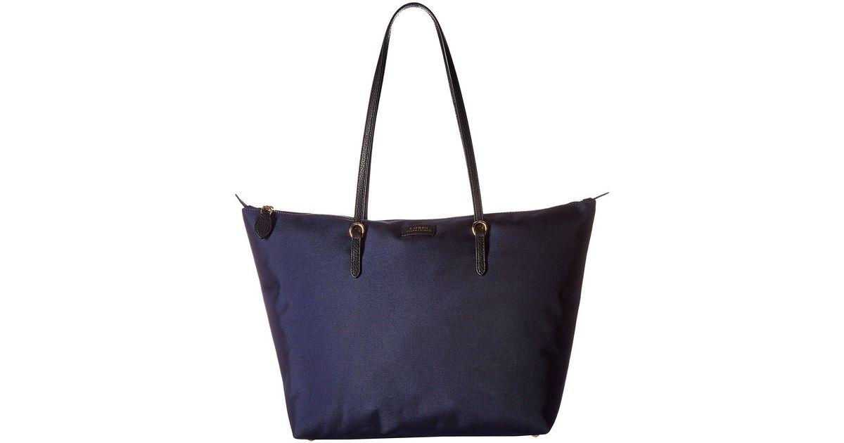 laaja valikoima AliExpress laadukas suunnittelu Lauren by Ralph Lauren Blue Chadwick Tote Medium (navy) Tote Handbags