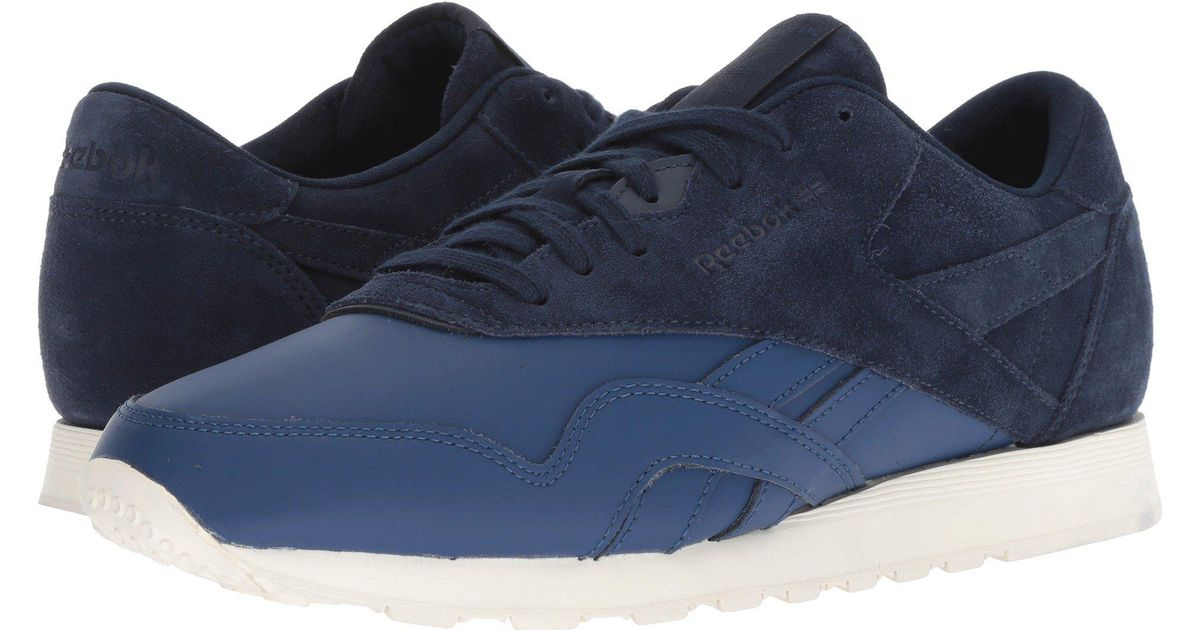 5cf9e29705b5 Lyst - Reebok Classic Nylon As (skull Grey stark Grey chalk) Men s Classic  Shoes in Blue for Men