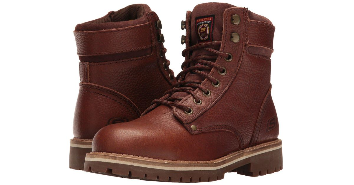 25583fb152e80 Lyst - Skechers Work Brooten in Brown