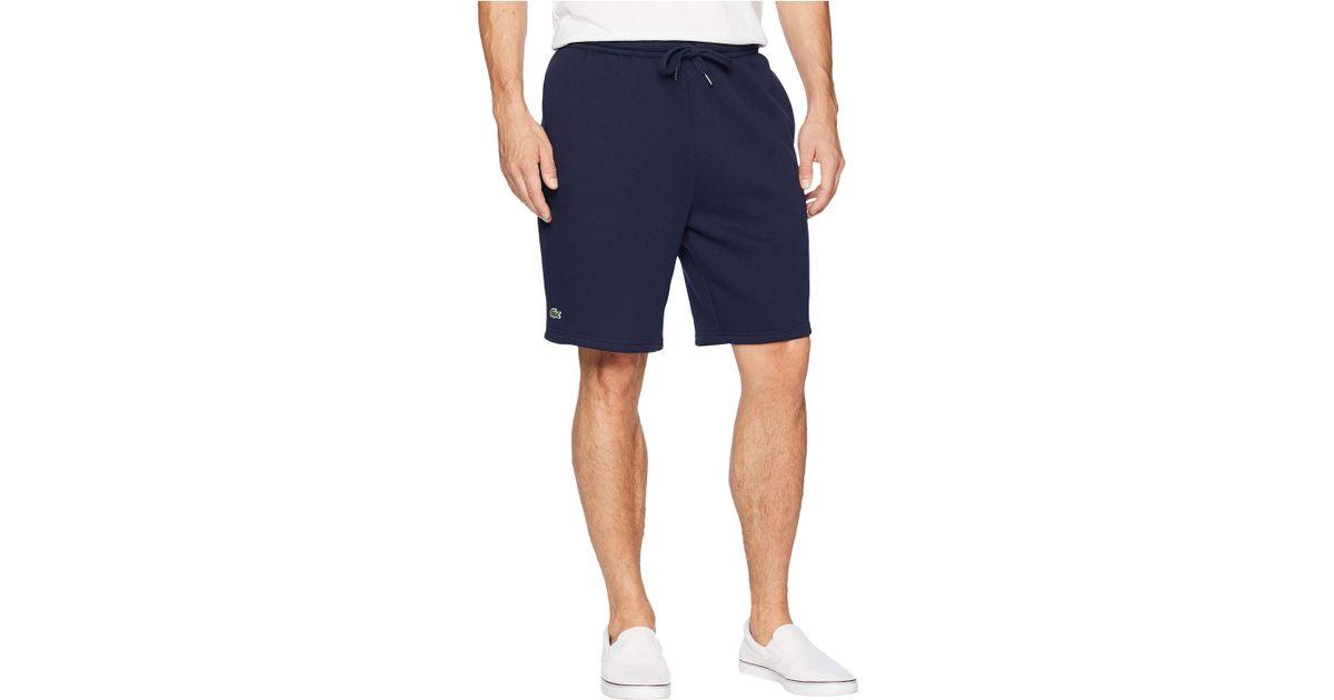52c5df74b Lyst - Lacoste Sport Fleece Shorts (navy Blue) Men s Shorts in Blue for Men