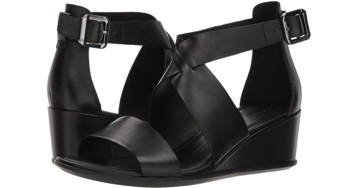 4e2b35bb19f Lyst - Ecco Shape 35 Wedge Ankle Strap Sandal in Black - Save 44%