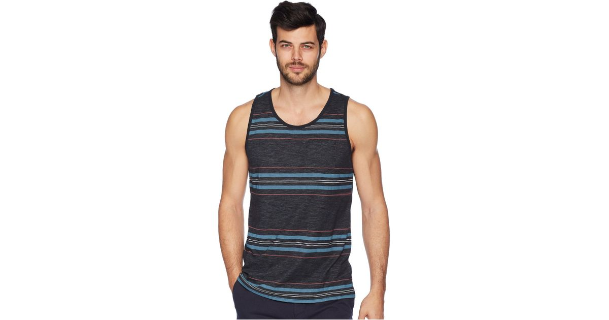 240c1e2289933a Lyst - Hurley Nike Dri-fit Stripe Yesterday Tank Top in Black for Men