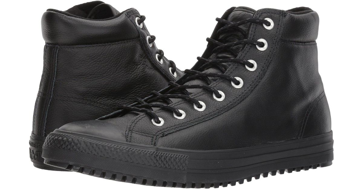 1c59be029f965f ... order lyst converse chuck taylor all star boot pc tumbled leather hi in  black for men