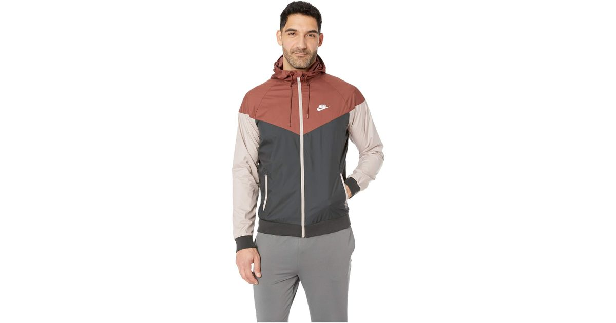 d3de95b470 Nike - Multicolor Sportwear Windrunner Jacket (red Sepia black diffused  Taupe white) Men s Coat for Men - Lyst