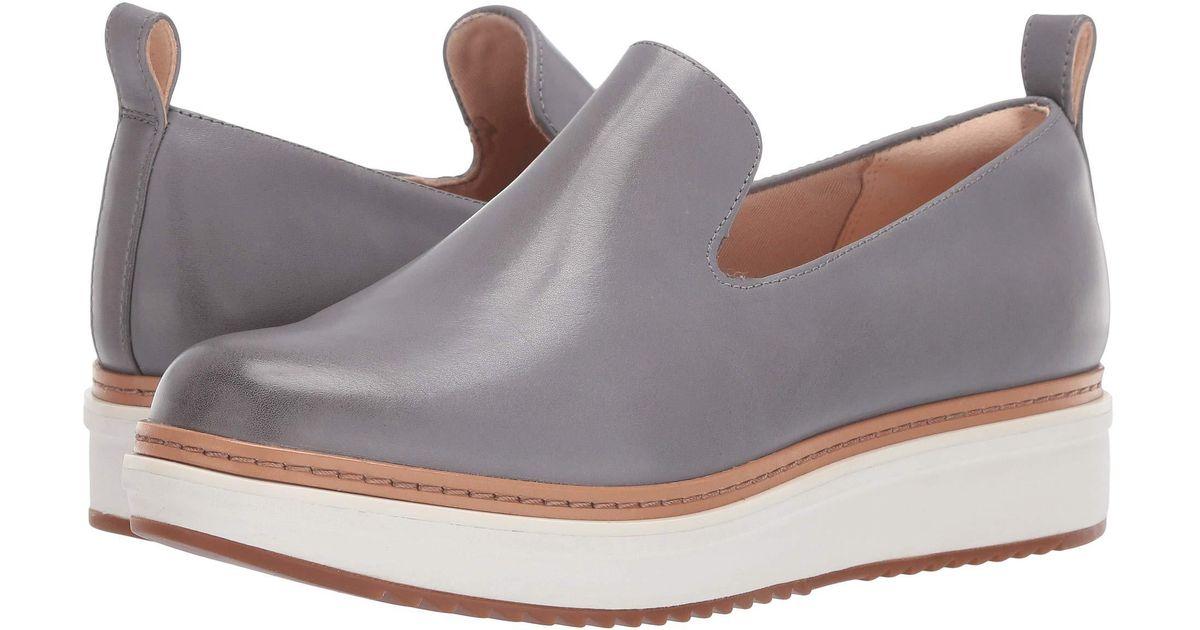 1d8ddac6049 Lyst - Clarks Teadale Genna (grey Leather) Women s Slip On Shoes in Gray