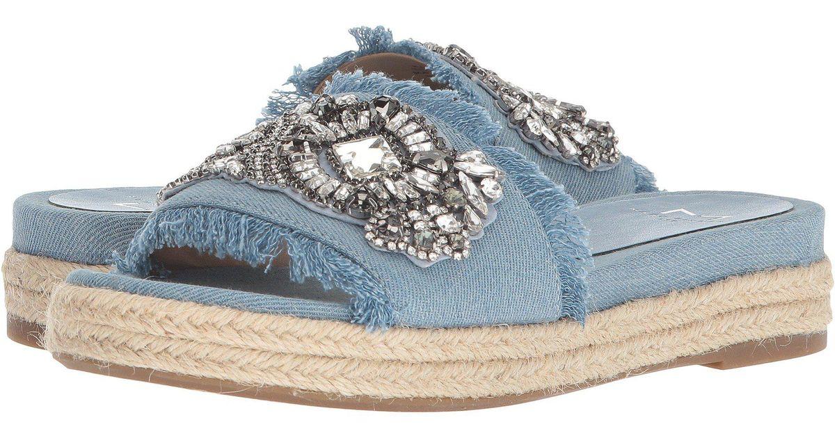 879db46911d Marc Fisher Blue Jelly Ii Embellished Espadrille Sandal