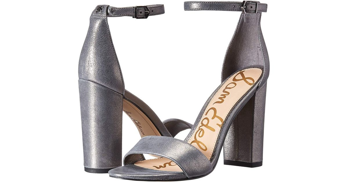 7bba67425dcc Lyst - Sam Edelman Yaro Ankle Strap Sandal Heel (new Nude Leopard Brahma  Hair) Women s Dress Sandals