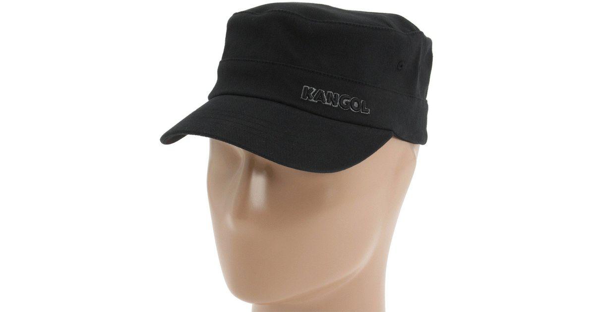 1cbf313ae32db6 Kangol Cotton Twill Army Cap in Black - Lyst