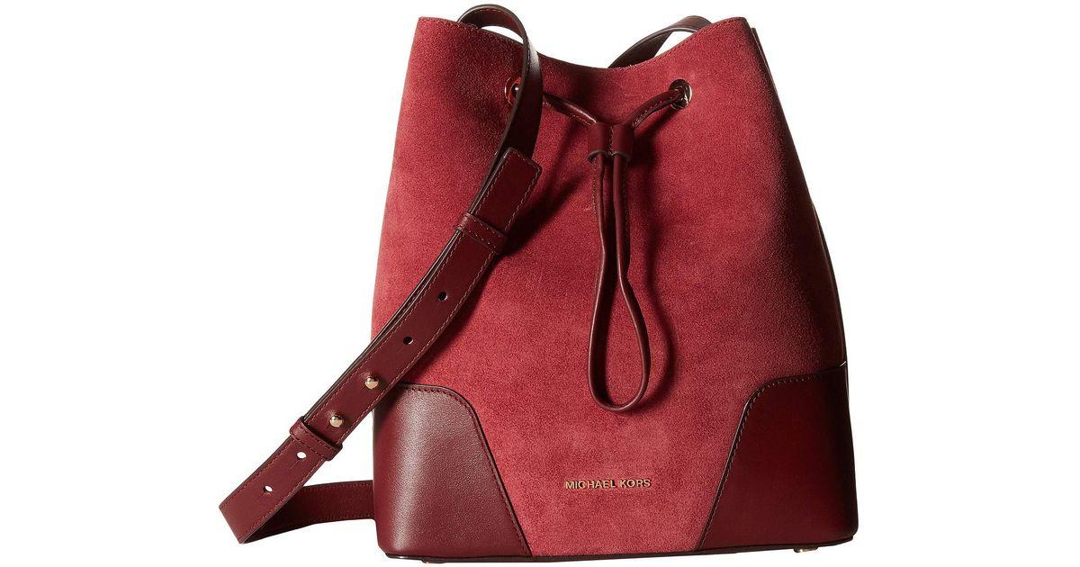 0793be5b8a3f Lyst - MICHAEL Michael Kors Cary Medium Bucket Bag (admiral) Bags