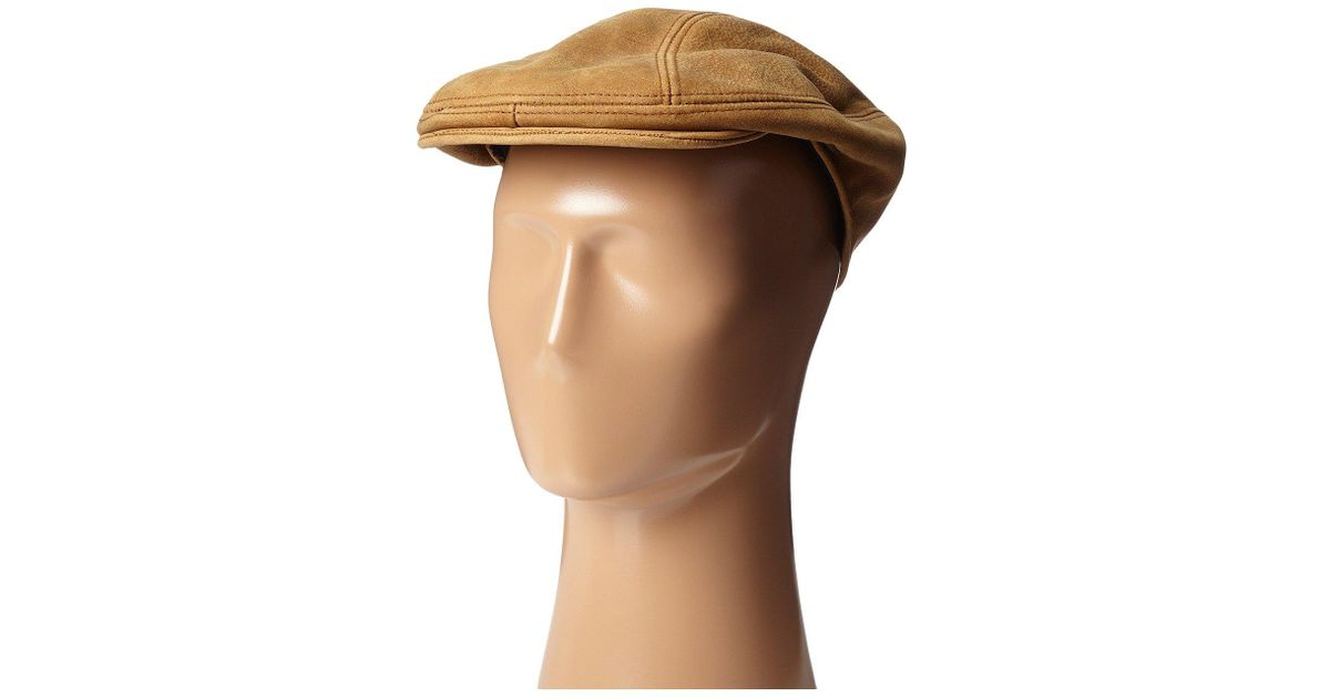 Lyst - Stetson Distressed Leather Ivy Cap (brown) Caps in Brown for Men ffef08d3035
