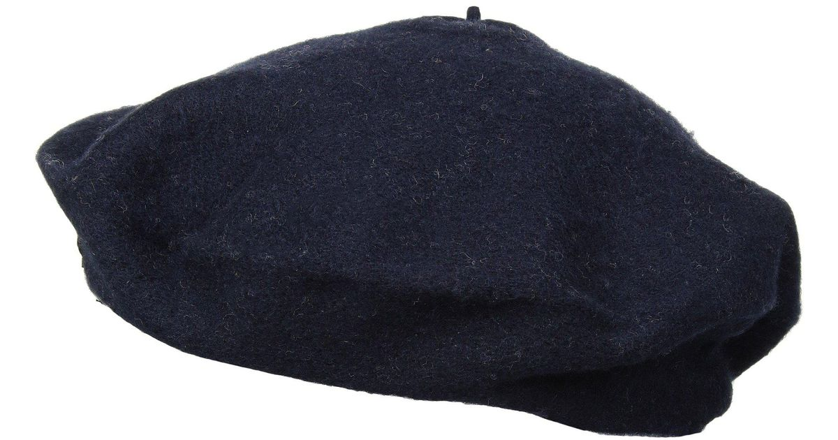 Lyst - Polo Ralph Lauren Felted Wool Beret With Bullion in Blue 7d579995f1c