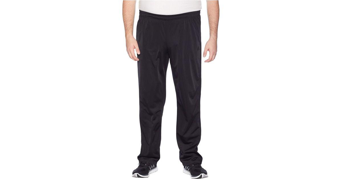 da81e58ec Lyst - adidas Big Tall Essentials 3-stripes Regular Fit Tricot Pants (black/ black 1) Men's Casual Pants in Black for Men