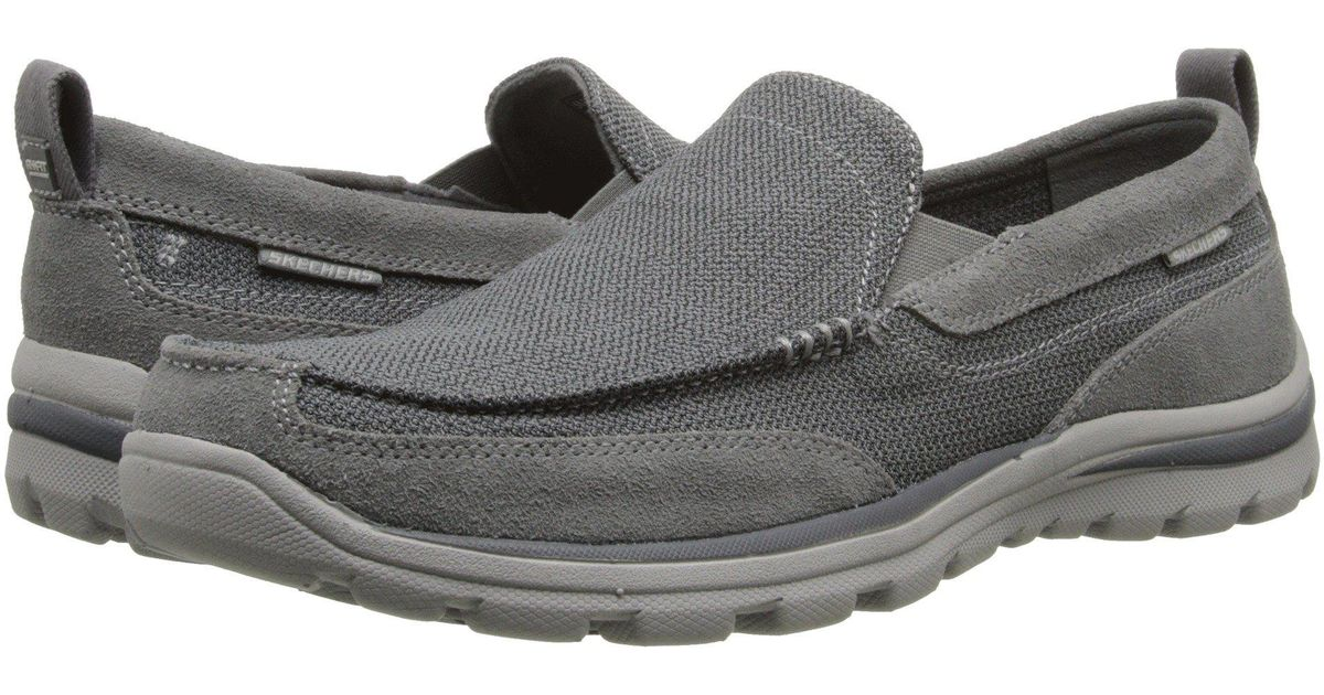 e883b1339f0b Lyst - Skechers Relaxed Fit Superior - Milford (light Brown) Men s Slip On  Shoes in Gray for Men