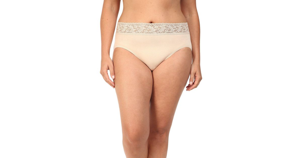 6c7578f1f1e Hanky Panky Plus Size Organic Cotton Signature Lace French Brief (chai)  Women s Underwear in Natural - Lyst