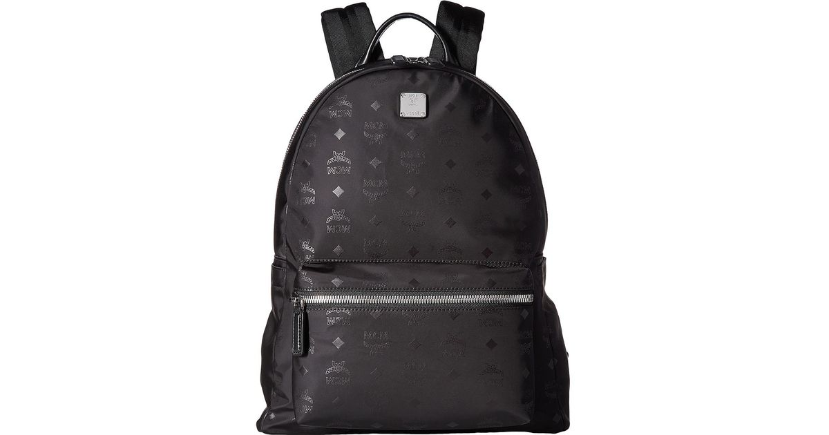6d594f865b28 MCM Dieter Monogrammed Nylon Medium Backpack in Black for Men - Lyst