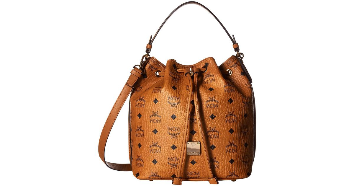 MCM Handbags, Essential Visetos Original Cognac Medium Hobo Bag