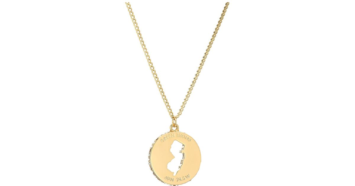 Lyst kate spade new york state of mind new jersey pendant necklace lyst kate spade new york state of mind new jersey pendant necklace in metallic aloadofball Image collections