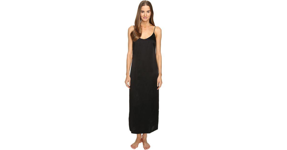 Lyst - La Perla Silk Night Gown in Black