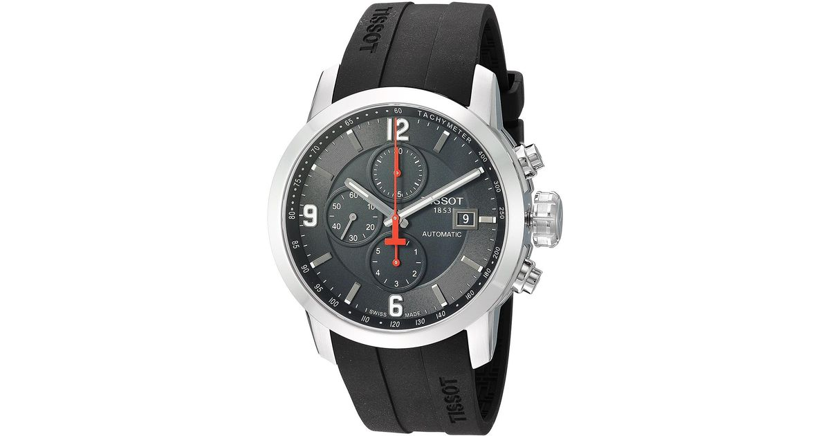 e6c1292e46c Lyst - Tissot Prc 200 Automatic Chronograph - T0554271705700  (mother-of-pearl black) Watches in Black for Men