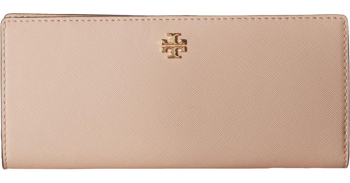 c71b355e3e611 Lyst - Tory Burch Robinson Slim Wallet