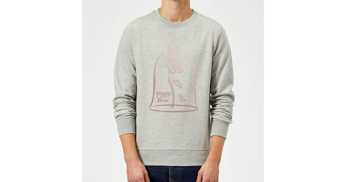 Disney Beauty And The Beast Rose Gold Sweatshirt In Gray For Men Lyst