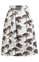 Osman Yousefzada Tree Printed Cotton Skirt - Lyst