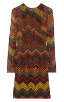 M Missoni Printed Silkchiffon Peplum Dress - Lyst