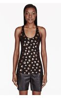 McQ by Alexander McQueen Black Bird Print Tank Top