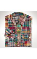 Polo Ralph Lauren Custom Patchwork Madras Shirt - Lyst