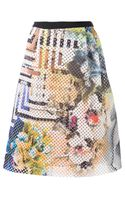 Clover Canyon Floral Maze Perforated Skirt - Lyst