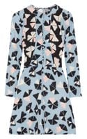 Marc By Marc Jacobs Frances Printed Silk Crepe De Chine Dress - Lyst
